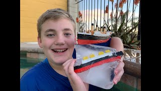 Larry Life Titanic Submersible and Homemade Iceberg Part 1