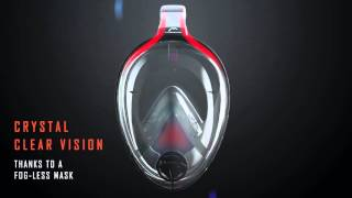 SEA VU DRY Full Face Snorkeling Mask by HEAD