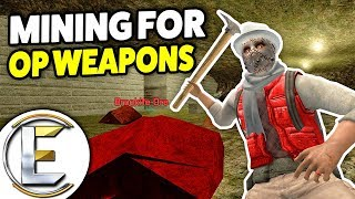Mining For OP Weapons! - Gmod DarkRP Life (Crafting Really Powerful Weapons)
