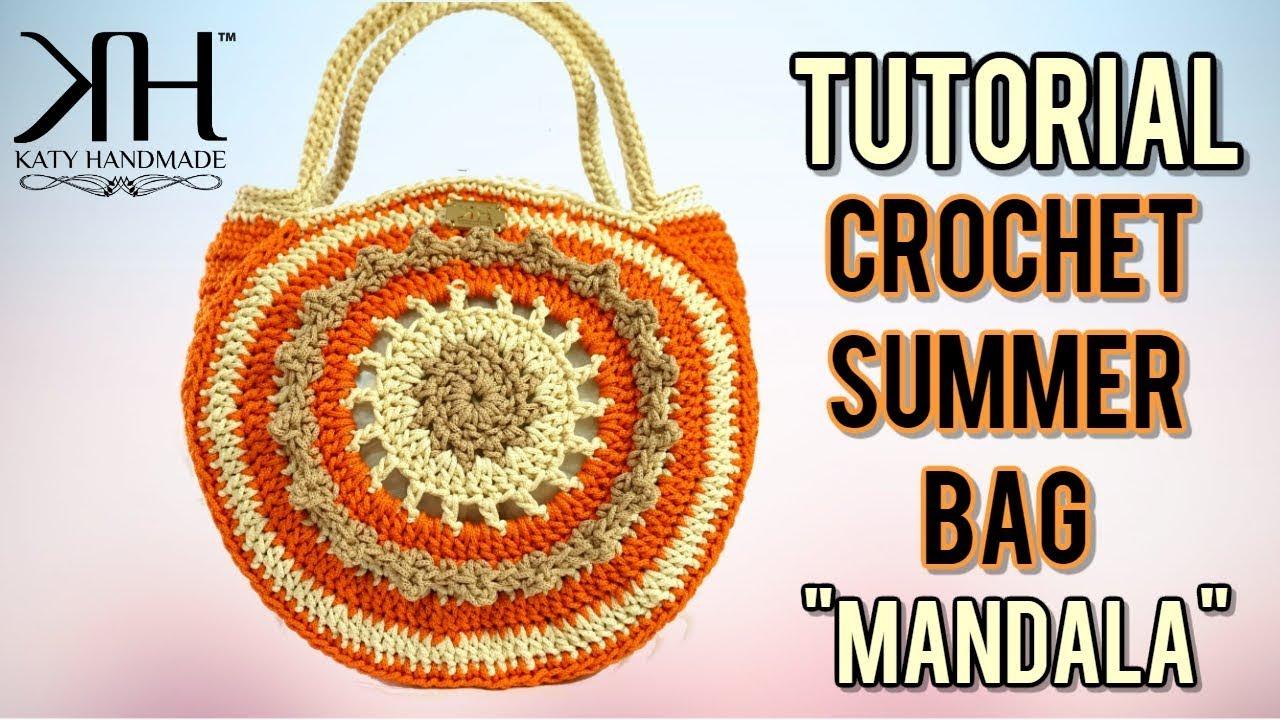 Tutorial Borsa Uncinetto Mandala Diy Crochet Bag Katy