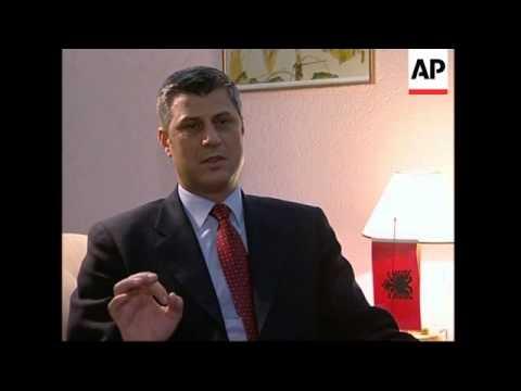 Kosovo leader Hashim Thaci comment, Ethnic Albanians; Serbia reax