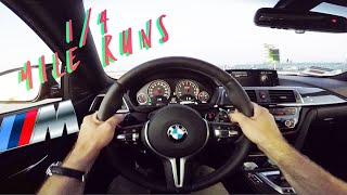 BMW F82 M4 STOCK 1/4 Mile Time and Audi S3 1/4 Mile Times