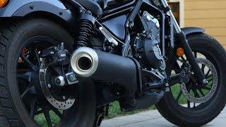 honda rebel 500 stock exhaust sound