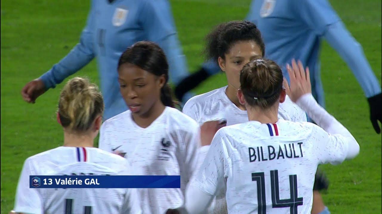 france vs uruguay women u0026 39 s friendly val u00e9rie gauvin second