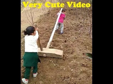 Two Cute & Funny Children's Working Together In Farms @ HP INDIA