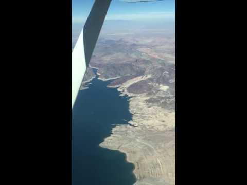 Fly over nevada desert