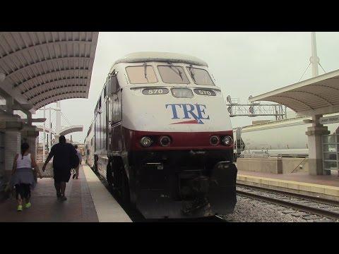 Railfaning Dallas, TRE, Dart and more 7-25-15
