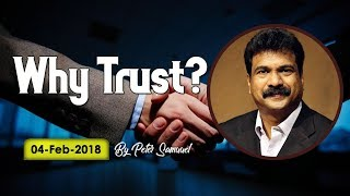 Why Trust ? || 04-02-2018 || English ||Peter Samuel || Bethel Ministries