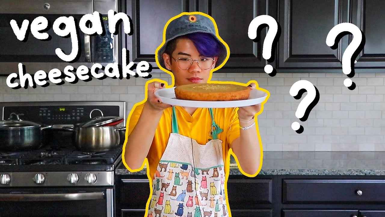 baking a vegan cheesecake because dairy doesn't like me   Frederic's Asian Kitchen