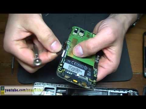 HTC Desire S разборка и замена сенсора
