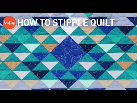 photo regarding Free Printable Machine Quilting Designs titled How in direction of stipple quilt Simple no cost-movement quilting style with Angela Walters