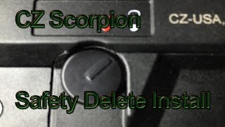 cz scorpion evo 3 s1 safety delete install