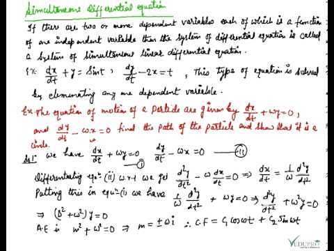 Differential equations coursework template