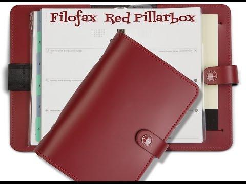 Filofax Original Red Pillarbox - Setup