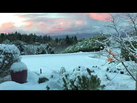Olympic Mountains - Sunrise After Snowstorm Time-Lapse
