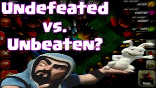 Clash Of Clans Undefeated VS. Unbeaten (?)   Clash Of Clans Perfect Clan War Quest
