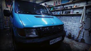 mercedes benz vito 1996г. кузов ремонт.  1 часть.