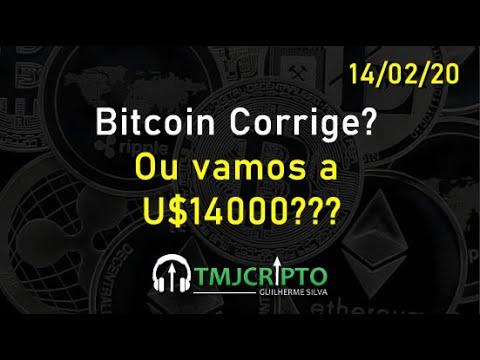 Análise Bitcoin - BTC - 14/02/2020 - Corrige Ou Vamos A U$14000???