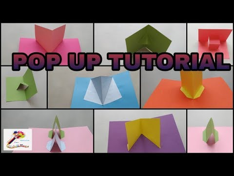 Popup Tutorial 1 - Basic pop up craft Pop up card  SS Craft Mantra