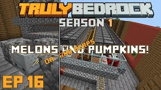 Truly Bedrock s1e16 This pumpkin melon farm is just awesome