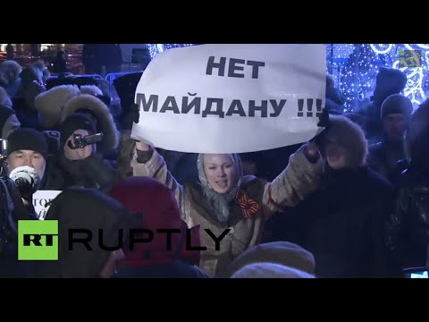 Russia: 'No Maidan here!' Protesters face-off with Navalny supporters