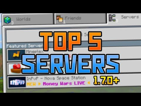 TOP 5 SERVERS For Minecraft PE (1.7+) - ALL NEW GAME MODES & MORE!!! - Minecraft Pocket Edition
