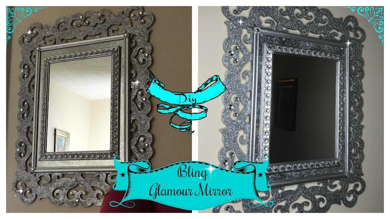 DIY HOME DECOR BLING GLAM WALL MIRROR - YouTube