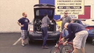 4 men, 4 bicycles, 1 prius Featuring the Brompton folding bicycle