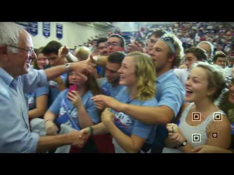 Bernie Sanders - QRrabbit QRcoded fundrasing campaign demo