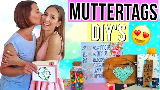 DIY MUTTERTAG GESCHENKE 🤩 5 DIYGeschenkideen zum Muttertag 2018