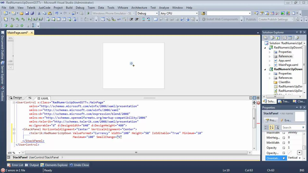 NumericUpDown - Part 1 : Getting Started (Silverlight & WPF)