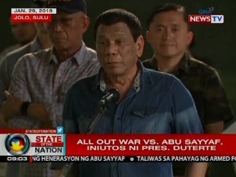 All out war vs Abu Sayyaf, iniutos ni Pres. Duterte