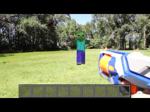 Real Life Minecraft Nerf Zombie Attack Teaser! - YouTube