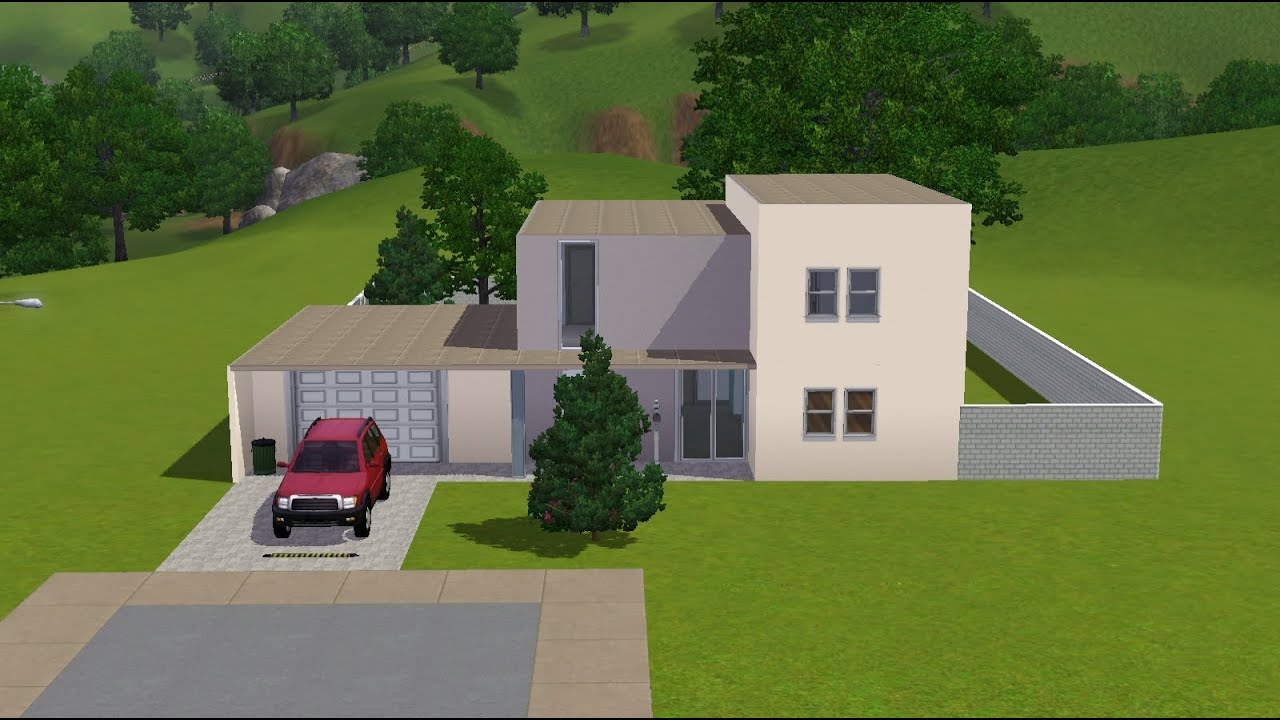Sims 3 modernes haus tutorial youtube for Modernes haus sims 3