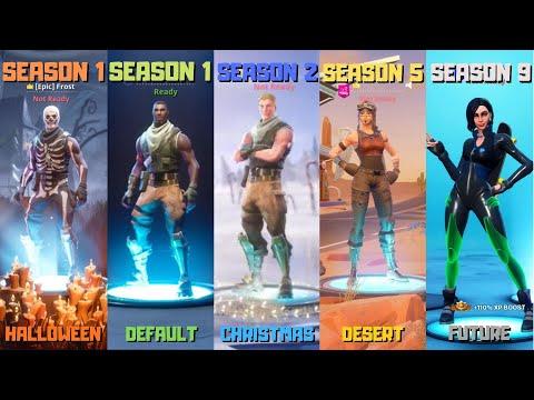Evolution Of Fortnite Lobby Backgrounds! (Season 1 - Season 9)