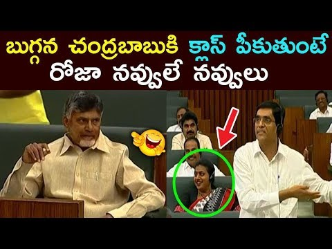 YCP MLA RK Roja reaction while Minister Buggana Rajendranath reddy comments on Chandrababu Naidu