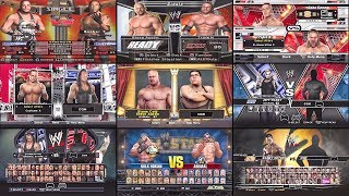 A Visual History of the Select Screen In WWE Games! from PS1 to PS4 Pro (WWE 2K18)