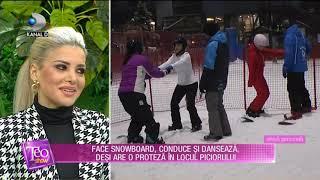 Teo Show (07.11.) - Face snowboard, conduce si danseaza, desi are o proteze in locul piciorului!