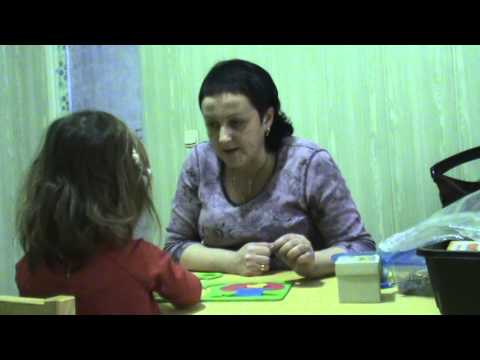 Занятие с логопедом, ребенку 3 года