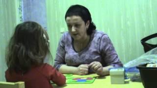 Занятие с логопедом, девочка 3 года