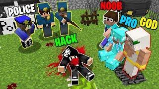 Minecraft Battle: NOOB vs PRO vs HACKER vs GOD : WHO KILLED HACKER? POLICE INVESTIGATION Minecraft