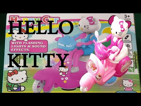 Hello Kitty Cute Pink Motorcycle- Unboxing Toys