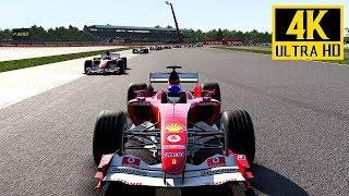 F1 2017 - (FERRARI F2004) Silverstone British Grand Prix Gameplay (PS4 Pro) 4K @ 2160p (60ᶠᵖˢ) ✔