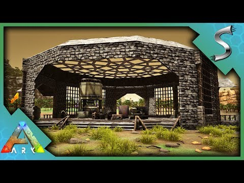 A BASE OF OPERATIONS! BUILDING THE WORKSHOP! - Ark: Jurassic Park [E21]
