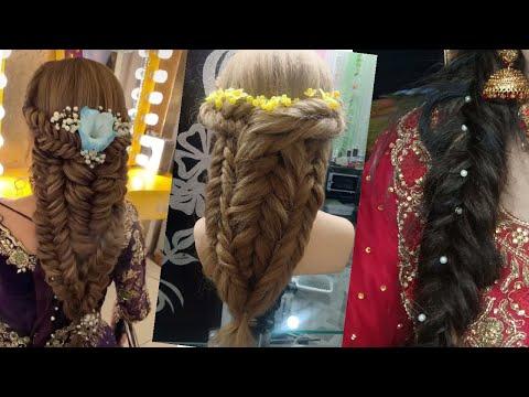 kashee inspired hairstyles || khajuri chutiya banane ka tarika || fishtail braid hairstyle thumbnail