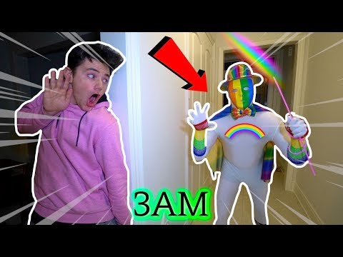 (Insane) The EVIL RAINBOW MAN VISITS MY HOUSE AT 3AM! (He Was MAD)