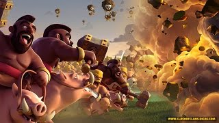Clash Of Clans - LVL 8 GIANT AND BOWLER/HOG COMBO!! | th9 attack strategy