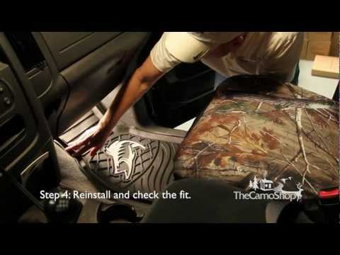 Camo Truck: Camouflage Floor Mat Installation
