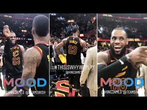 LeBron James' CELEBRATING His GAME WINNER Over Toronto Raptors - Cleveland Cavaliers Raptors Game 3