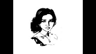 How to draw Shreya Ghoshal face pencil drawing step by step